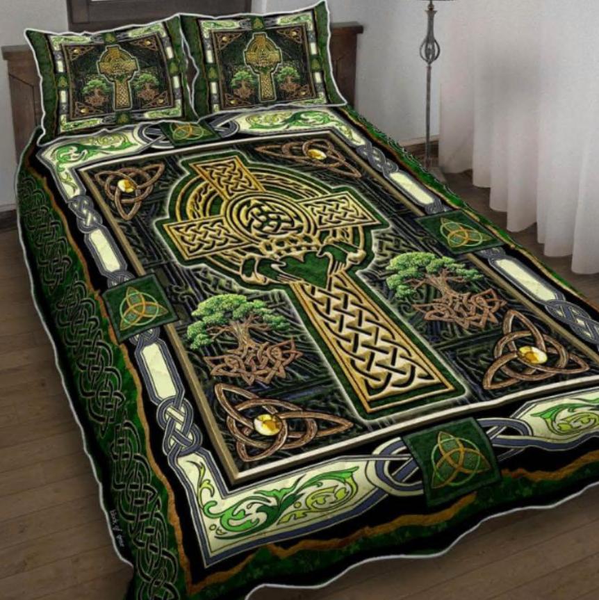 Irish Celtic Cross bedding set