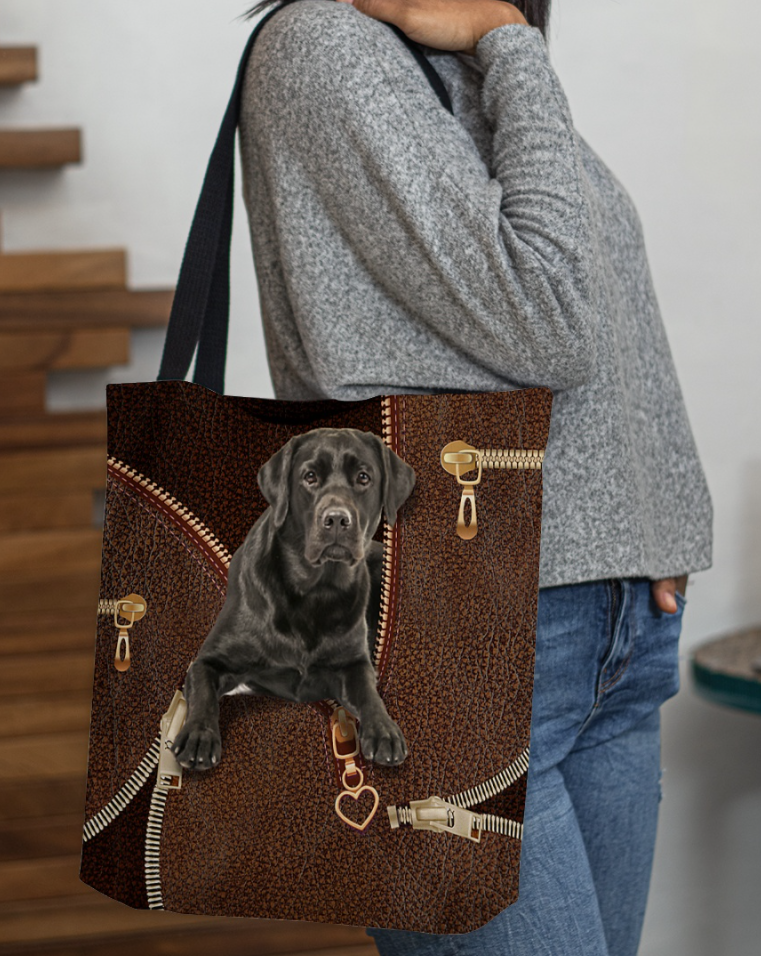 Labrador Retriever zipper tote bag 1