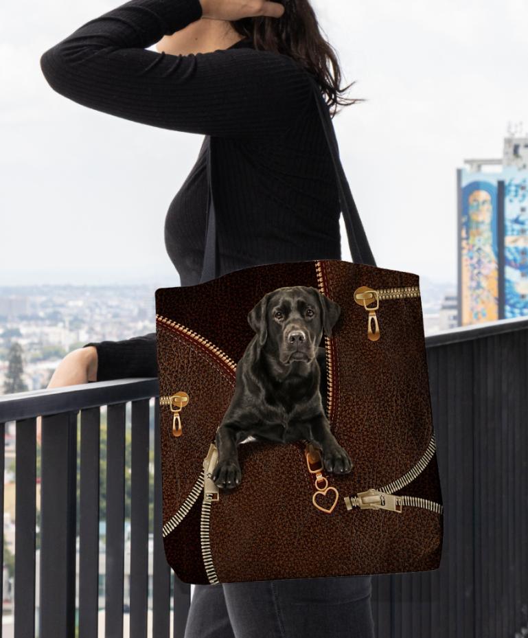 Labrador Retriever zipper tote bag