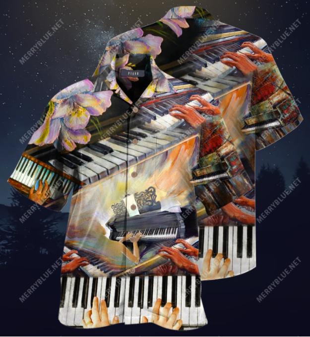 Life Is Better With A Piano hawaiian shirt