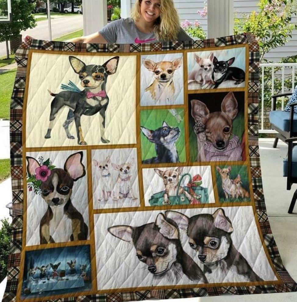 Love chihuahua quilt