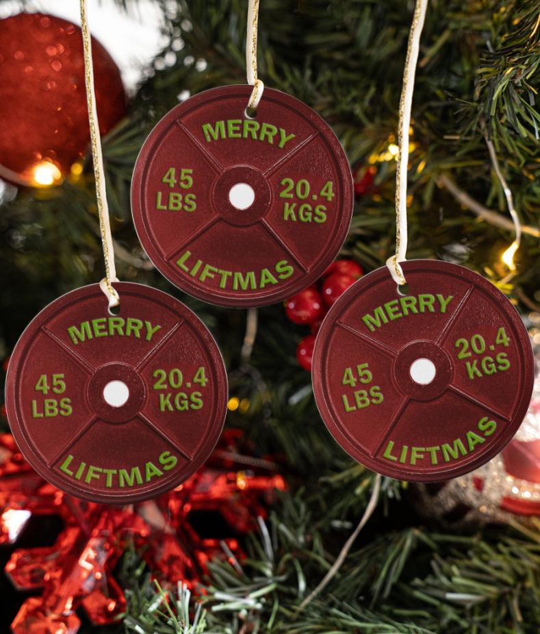 Merry liftmas Christmas Ornament