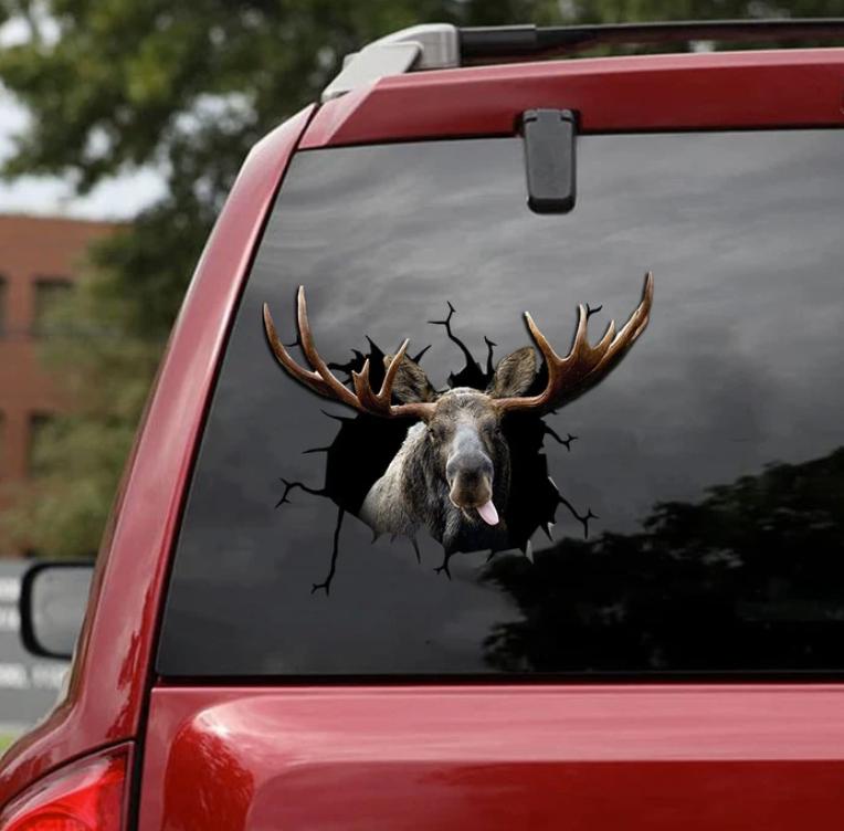 Moose deer crack decal