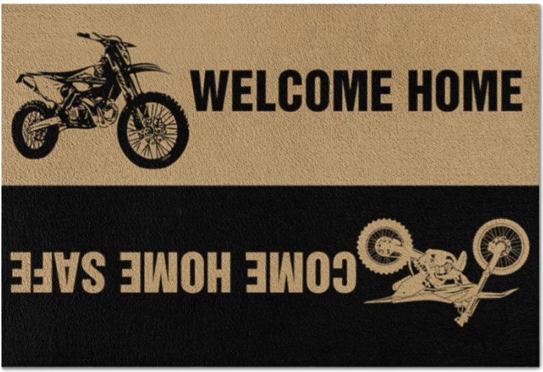 Motocross welcome home come home safe doormat