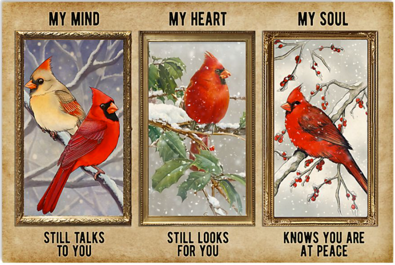 My mind still talks to you my heart still looks for you my soul knows you are at peace poster