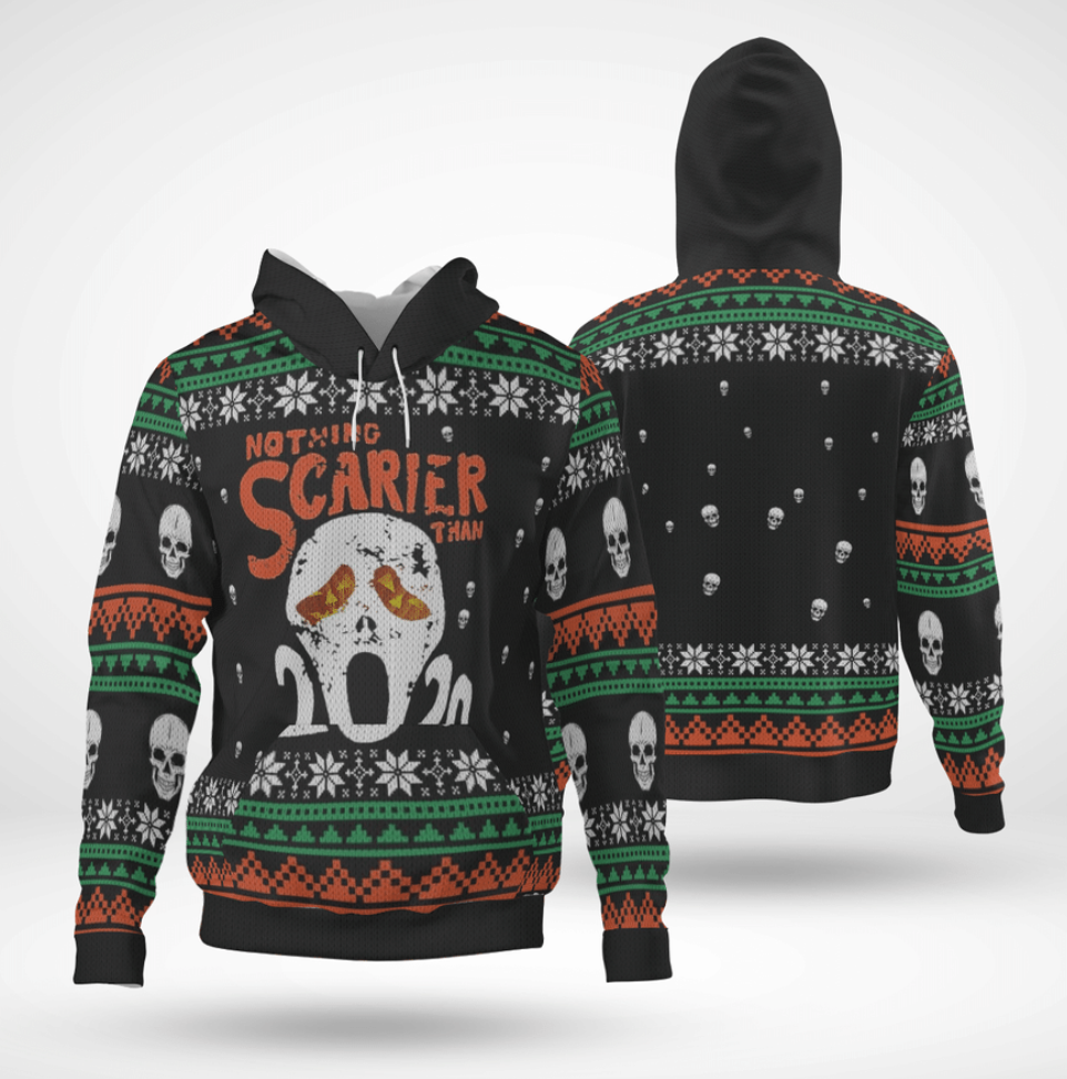 Nothing scarier than 2020 all over printed 3D hoodie