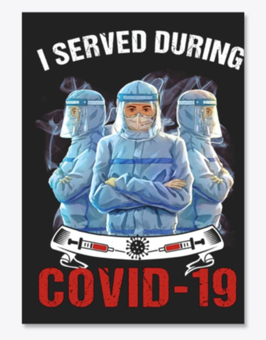 Nurse i served during covid 19 decal