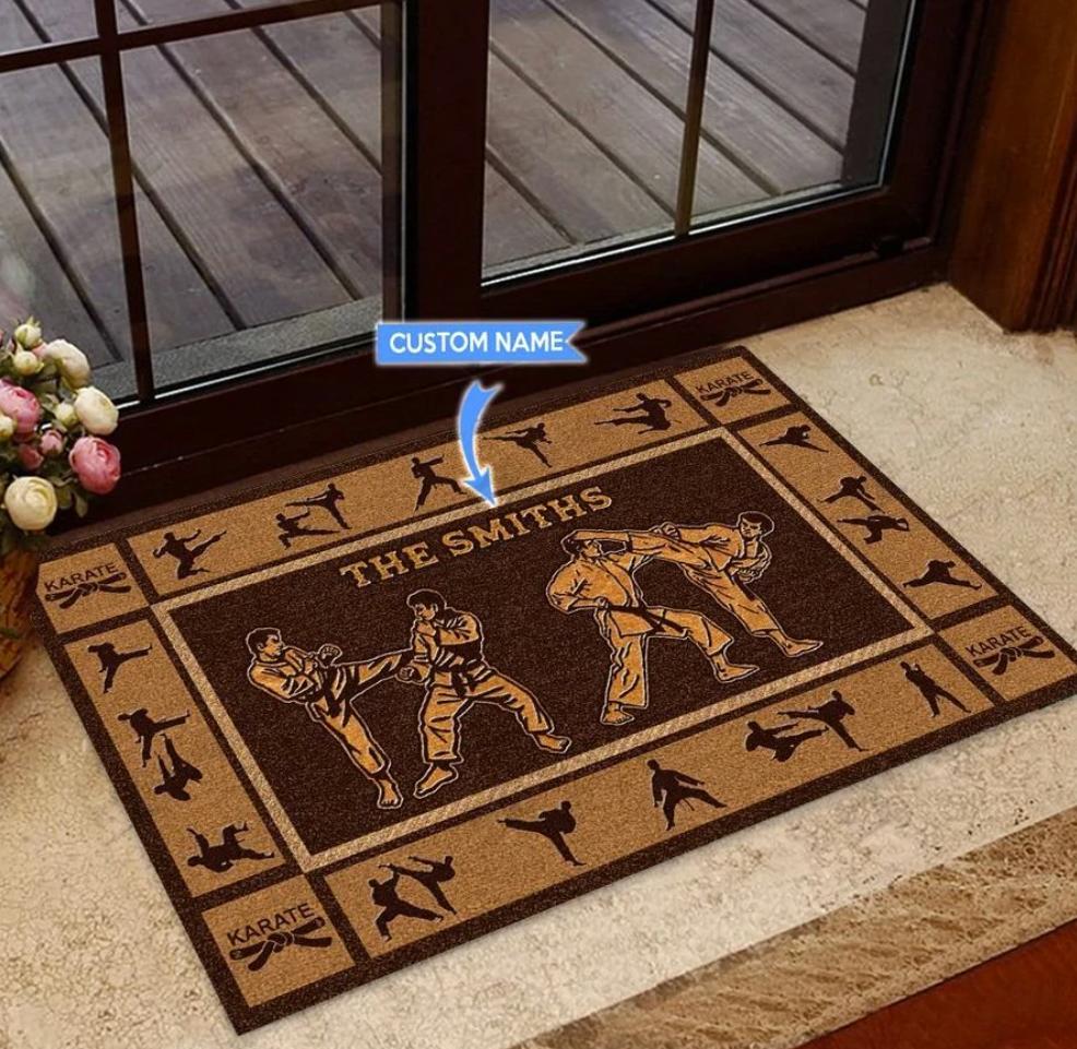 Personalized karate doormat