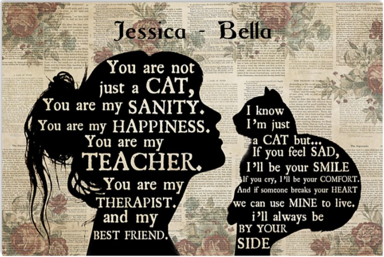 Personalized you are not just a cat poster
