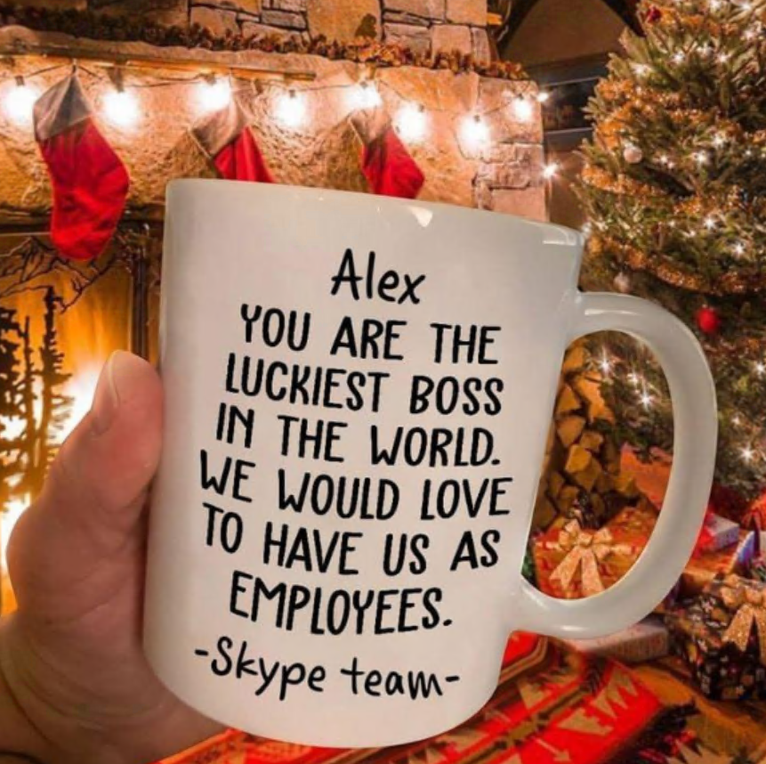 Personalized you are the luckiest boss in the world we would love to have us as employees mug