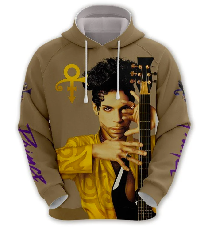 Prince all over printed 3D hoodie