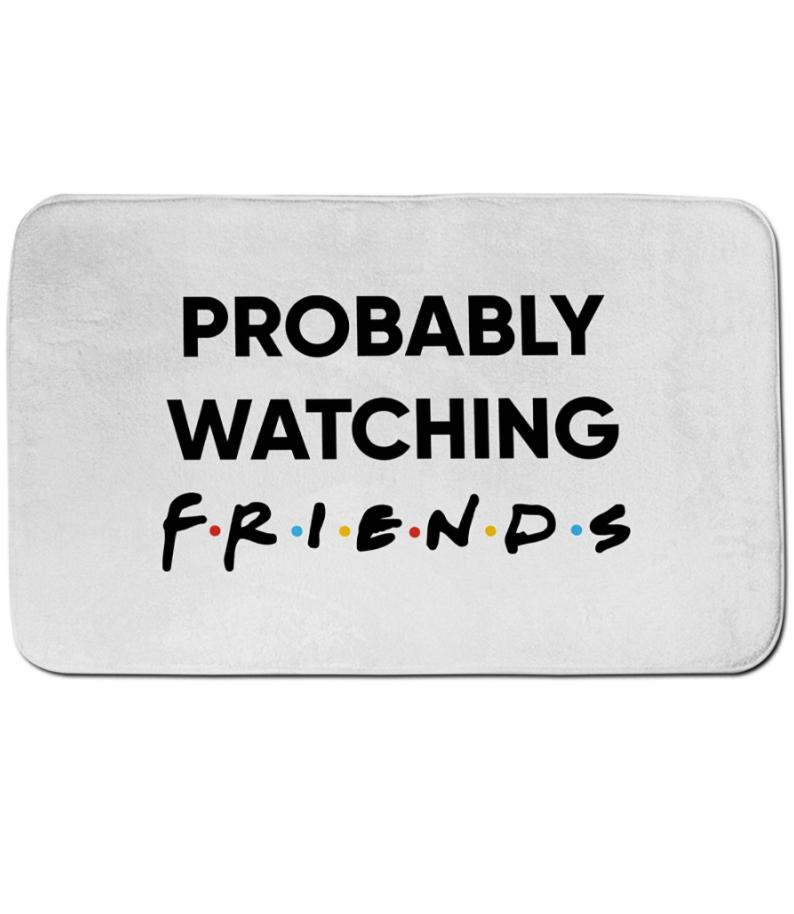 Probably watching Friends doormat 1