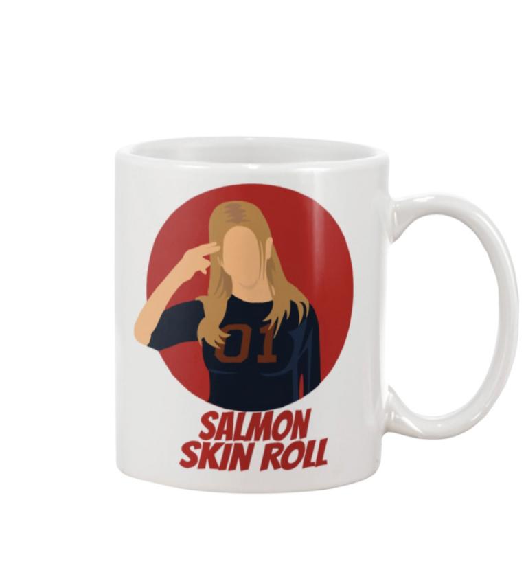 Rachel Salmon skin roll mug