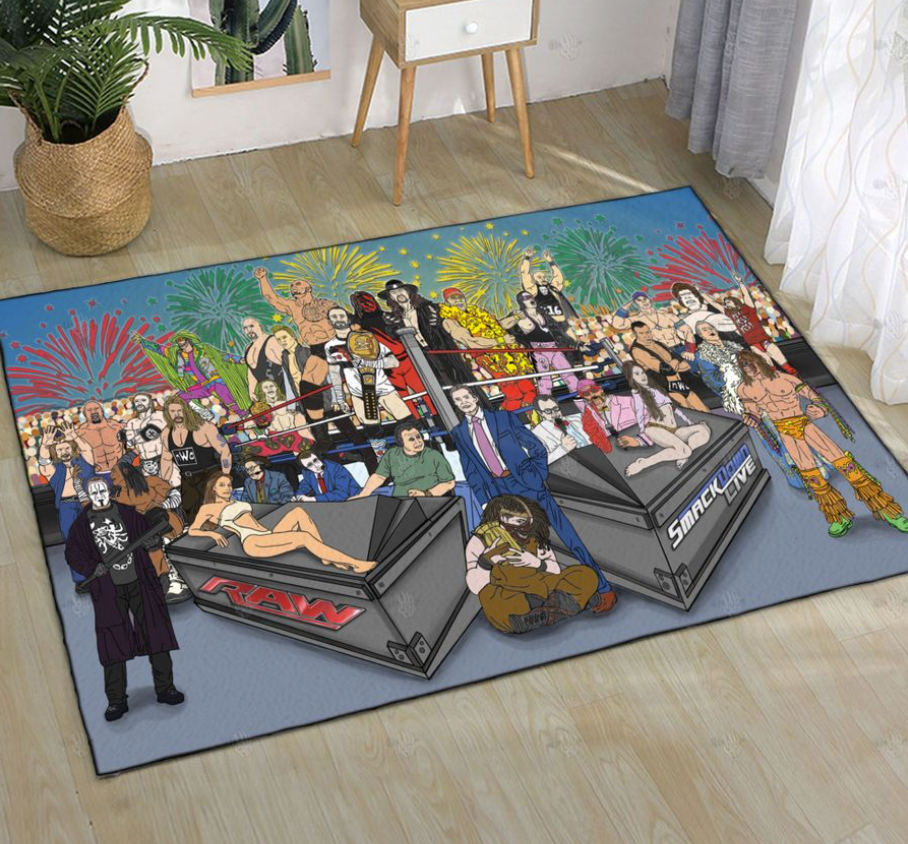 Raw and Smackdown rug