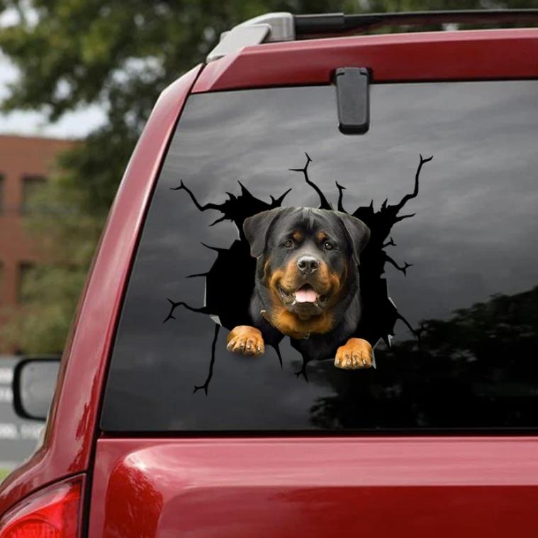 Rottweiler crack decal