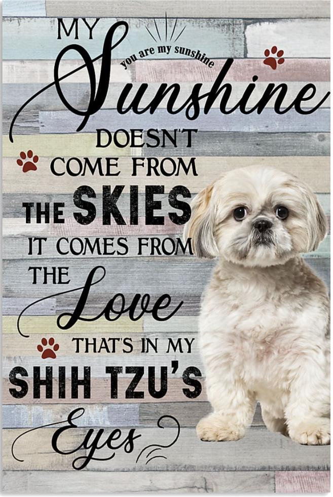Shih Tzu you are my sunshine poster