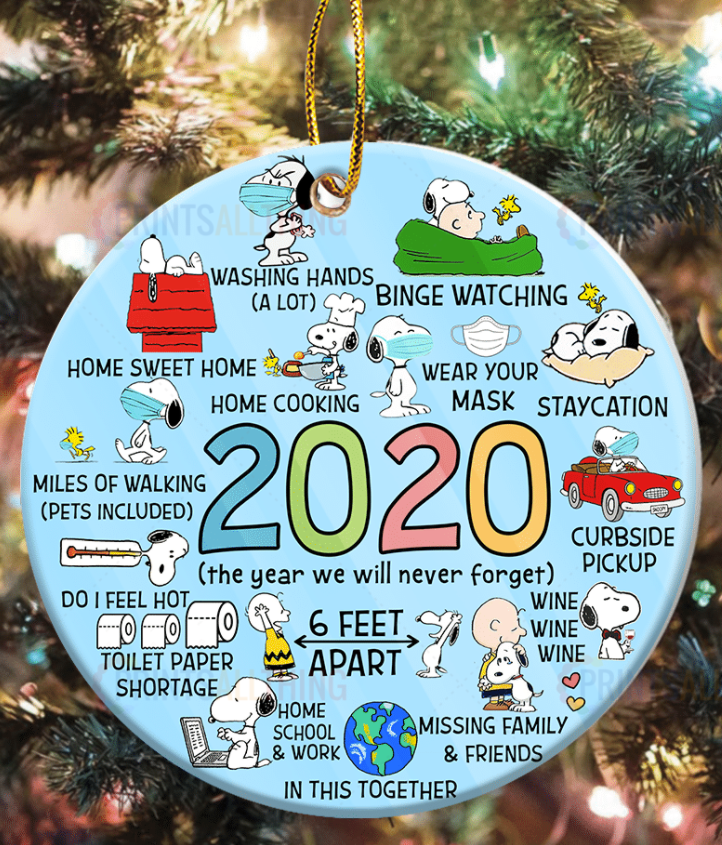 Snoopy 2020 the year we will never forget Christmas Ornament