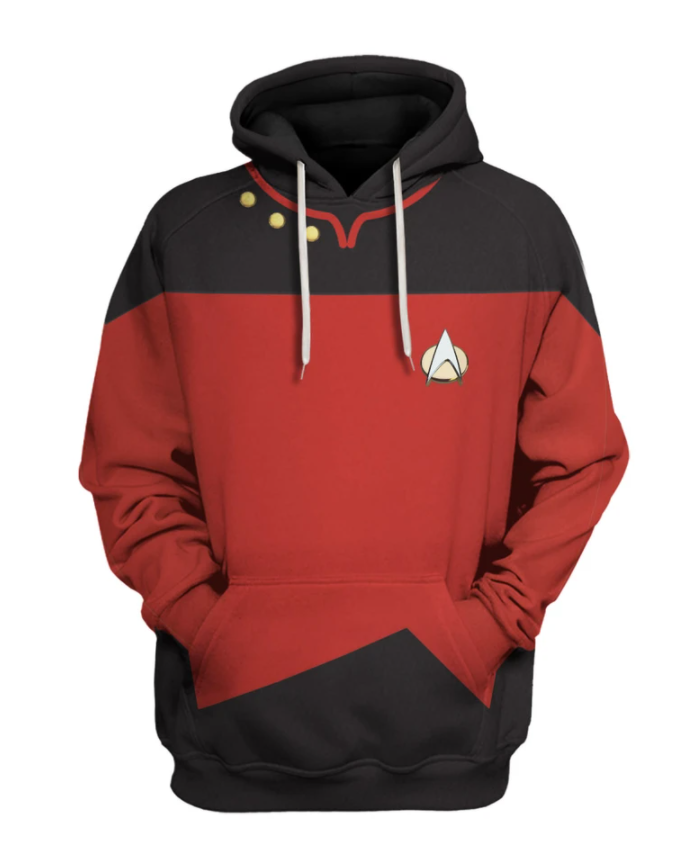 Star Trek red uniform all over printed 3d hoodie