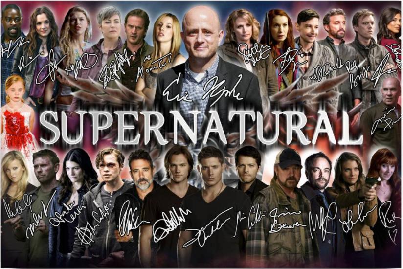 Supernatural character signatures poster