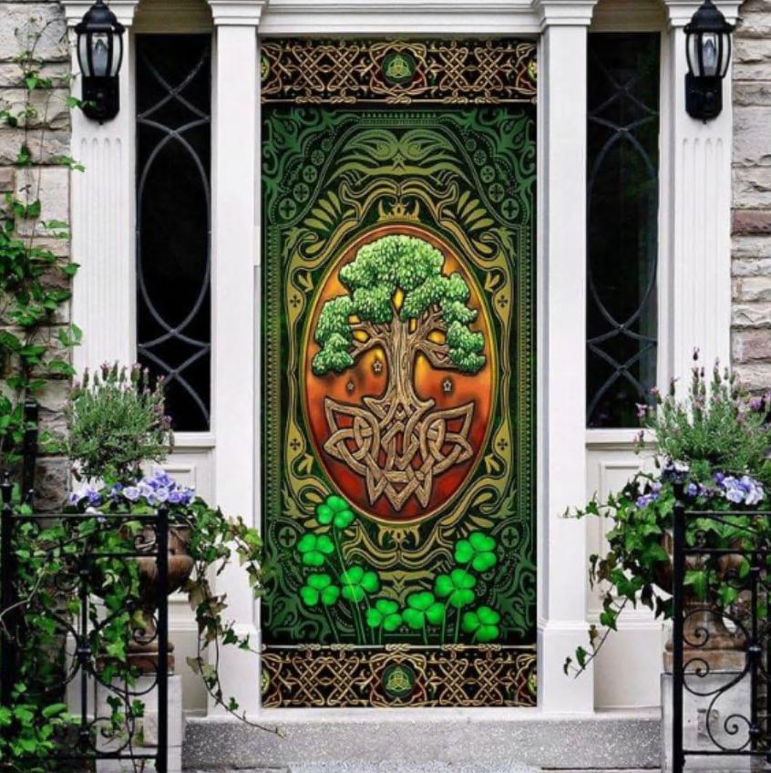 The Irish Celtic Tree Of Life door cover