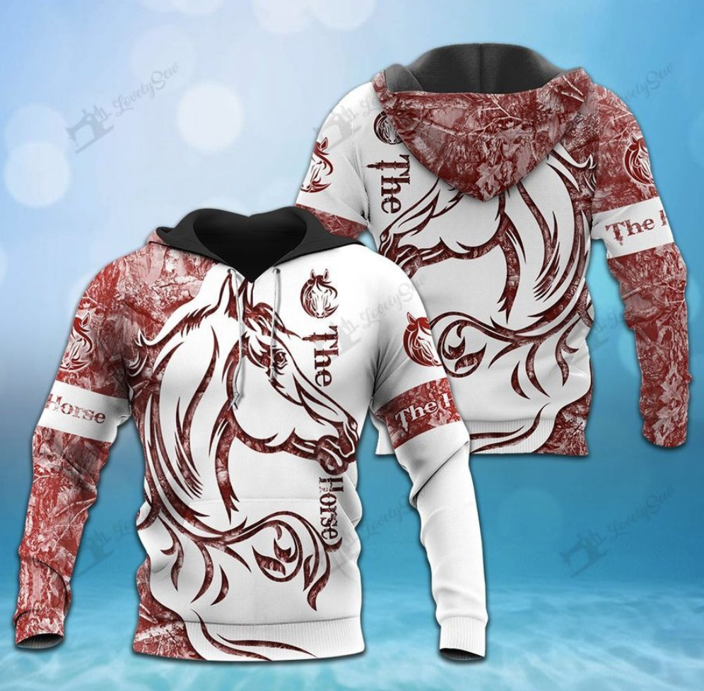 The horse all over printed 3d hoodie