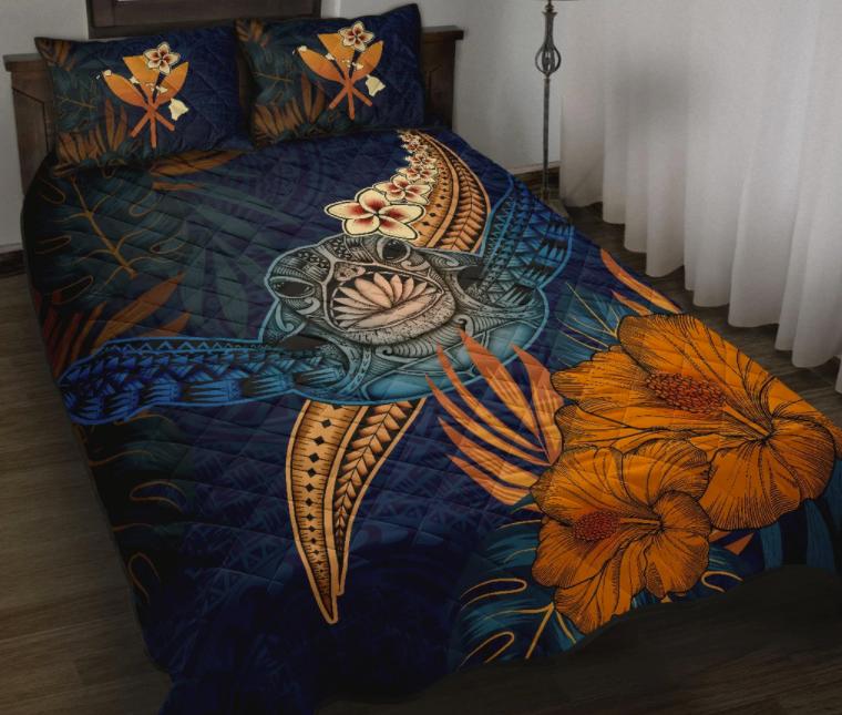 Turtle hawaiian bedding set 1