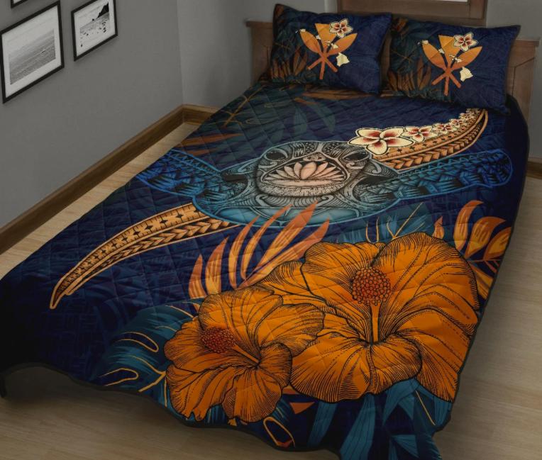 Turtle hawaiian bedding set