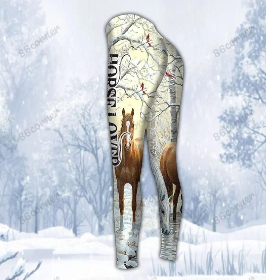 Winter horse lover legging