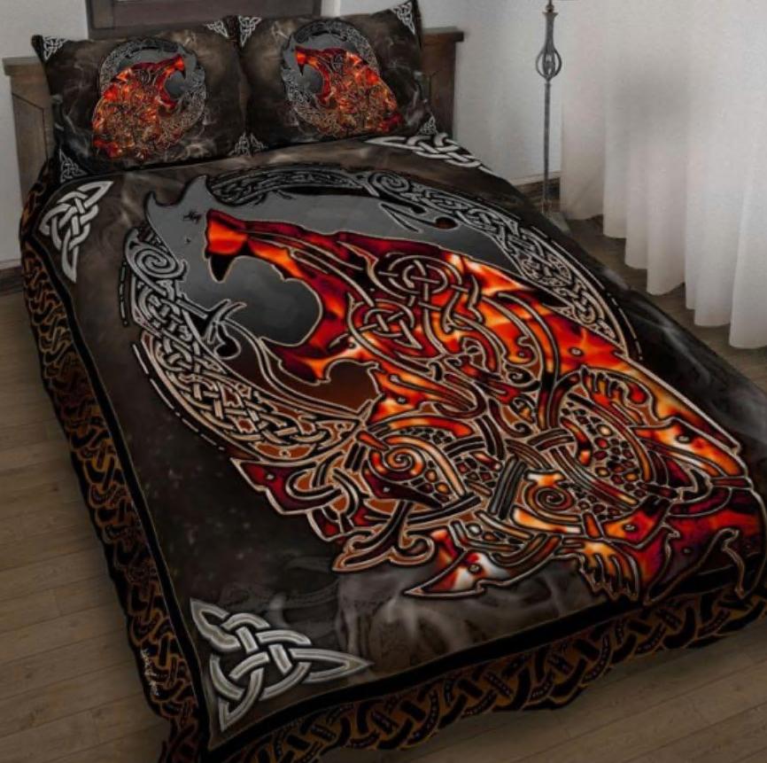 Wolf Viking bedding set