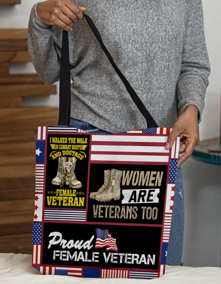 Women are veteran too tote bag 1