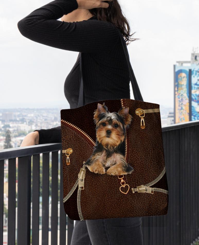 Yorkshire Terrier Zipper tote bag 1