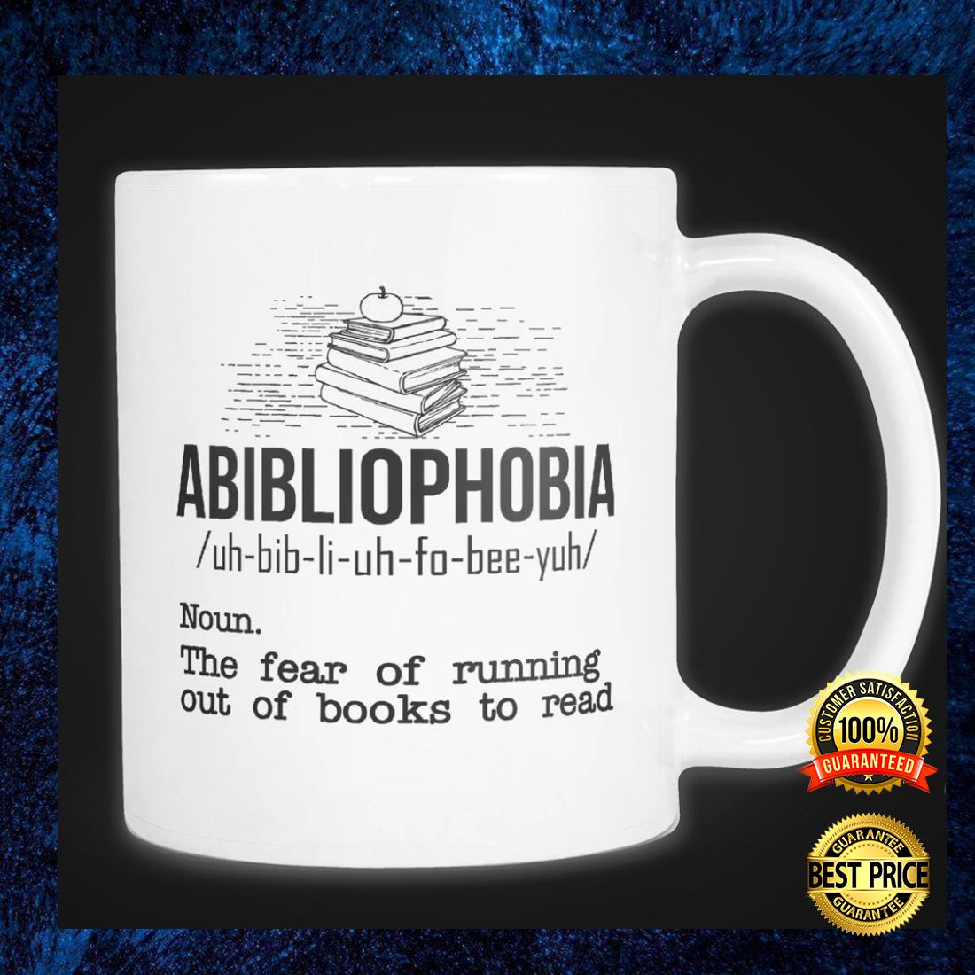 Abibliophobia definition mug 1