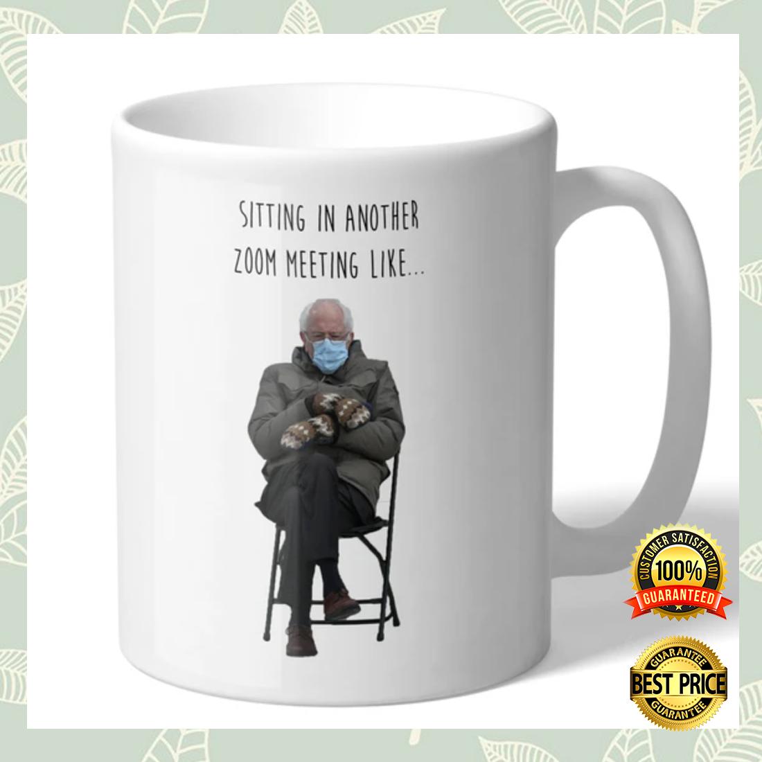 Bernie sitting in another zoom meeting like mug 4
