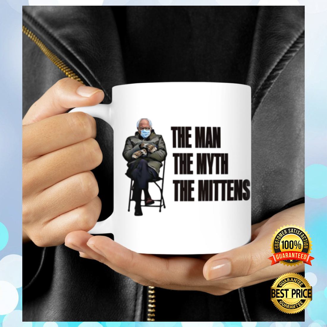Bernie the man the myth the mittens mug 5