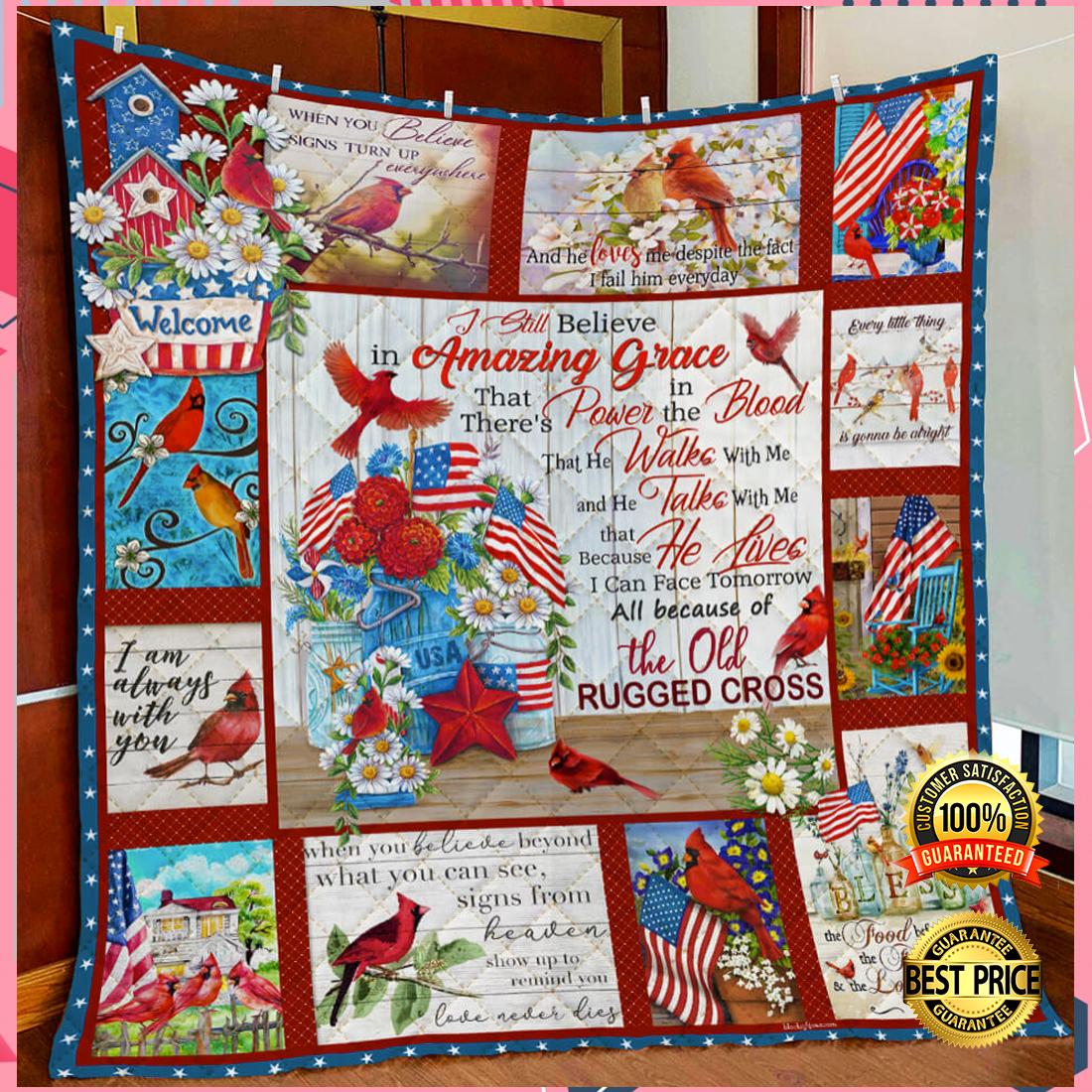 Cardinal i still believe in Amazing grace blanket 3
