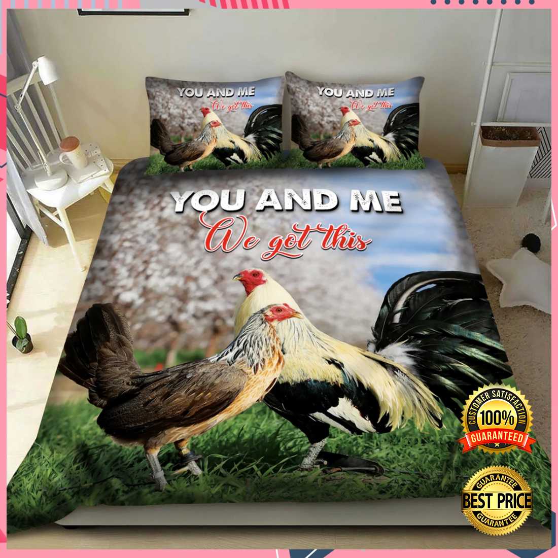 Chicken you and me we got this bedding set 2