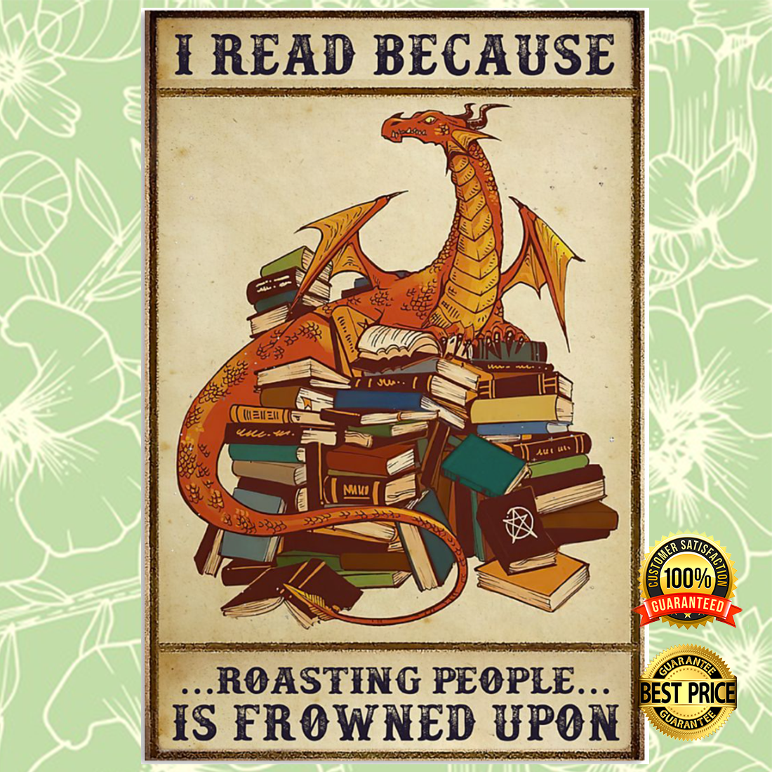 Dragon i read because roasting people is frowned upon poster 4