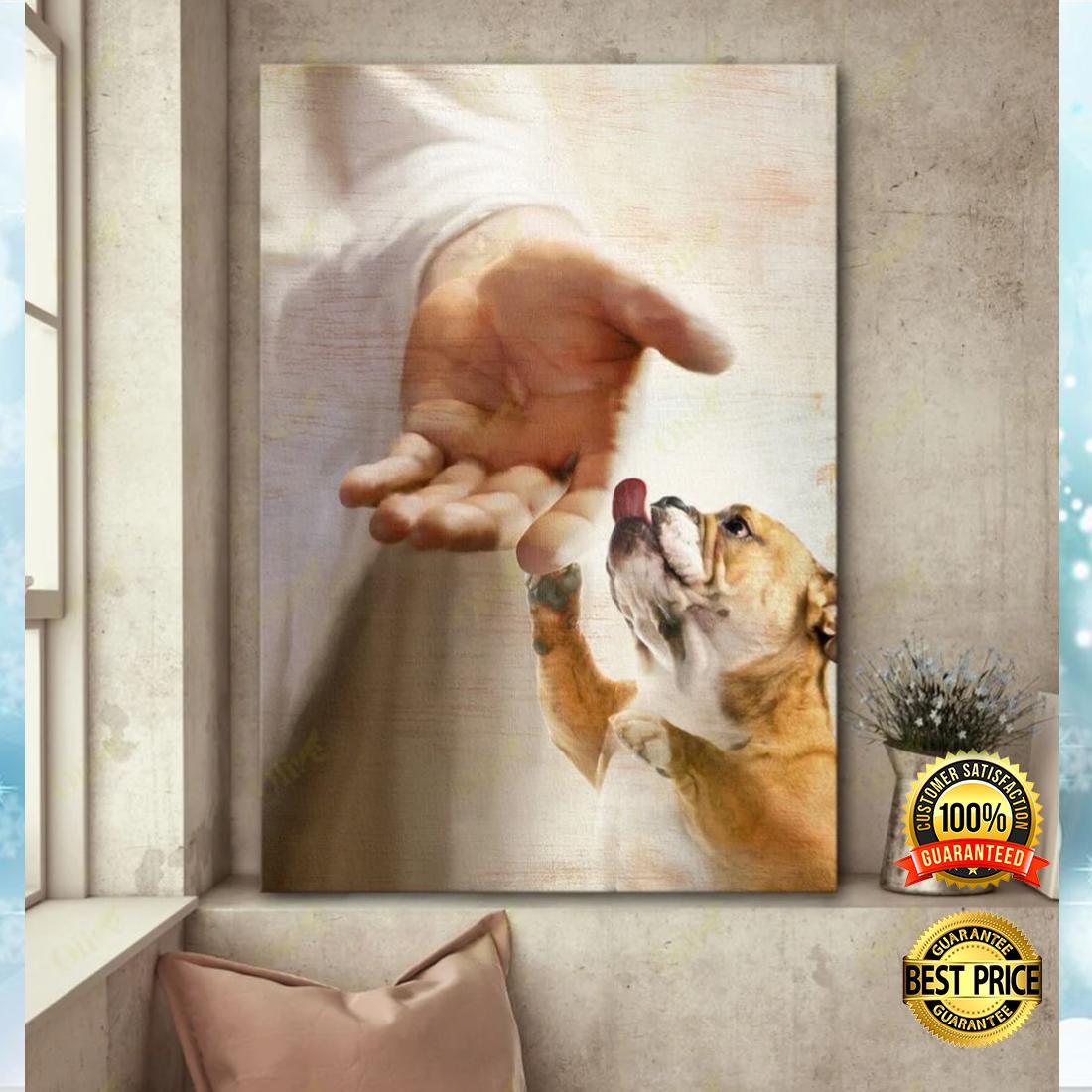 English Bulldog take my hand canvas 5
