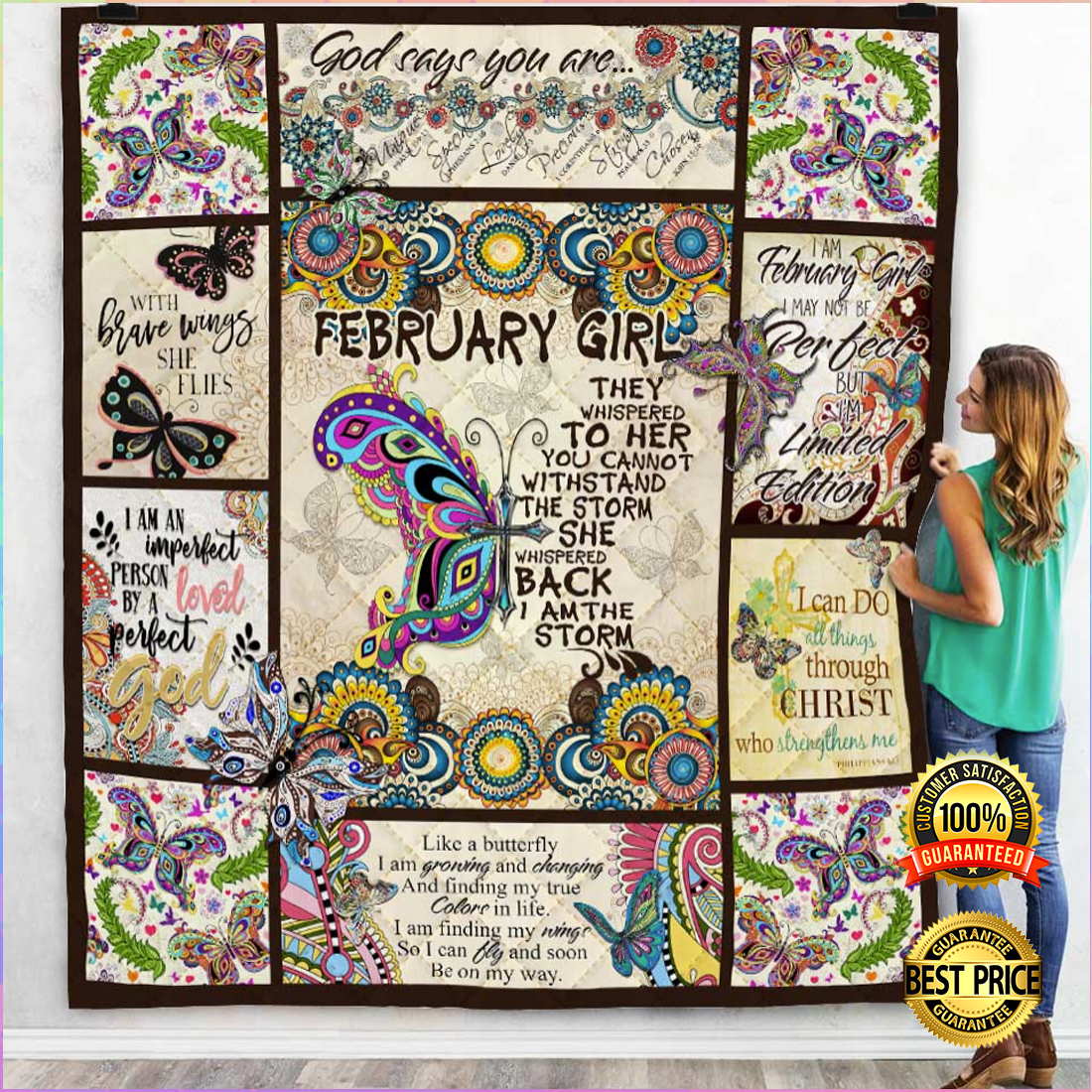 February girl they whispered to her you cannot withstand the storm quilt 5