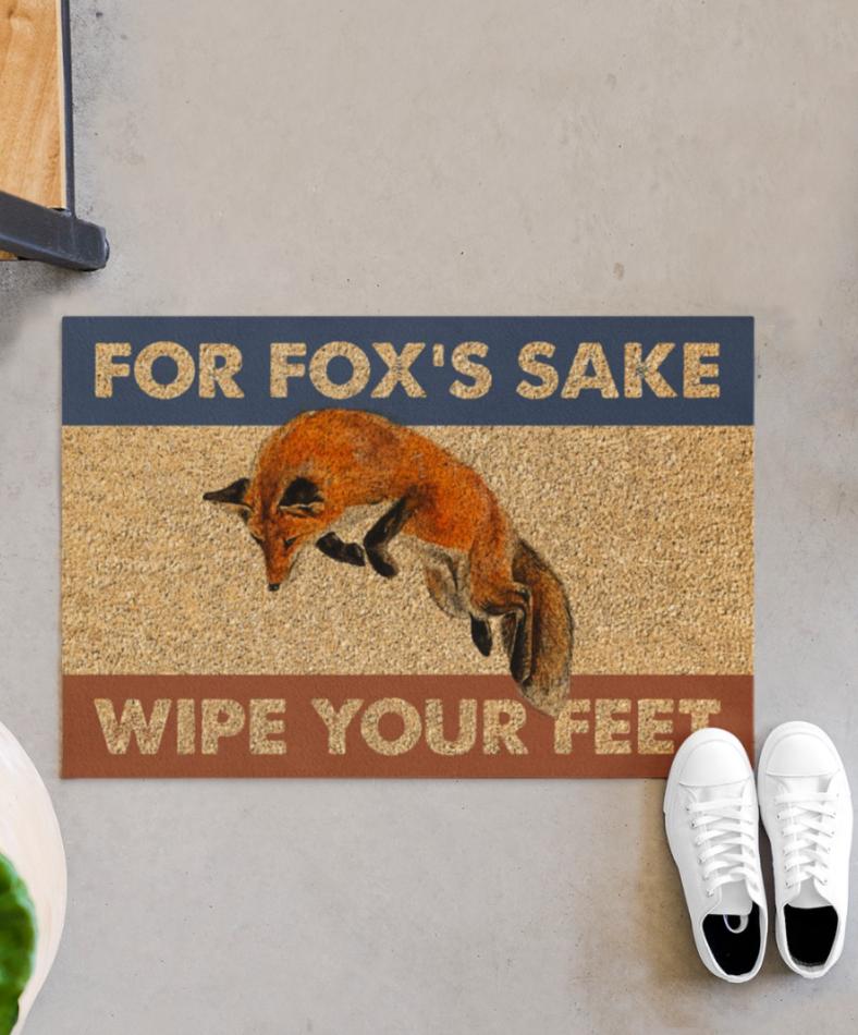 For fox's sake wipe your feet doormat 1