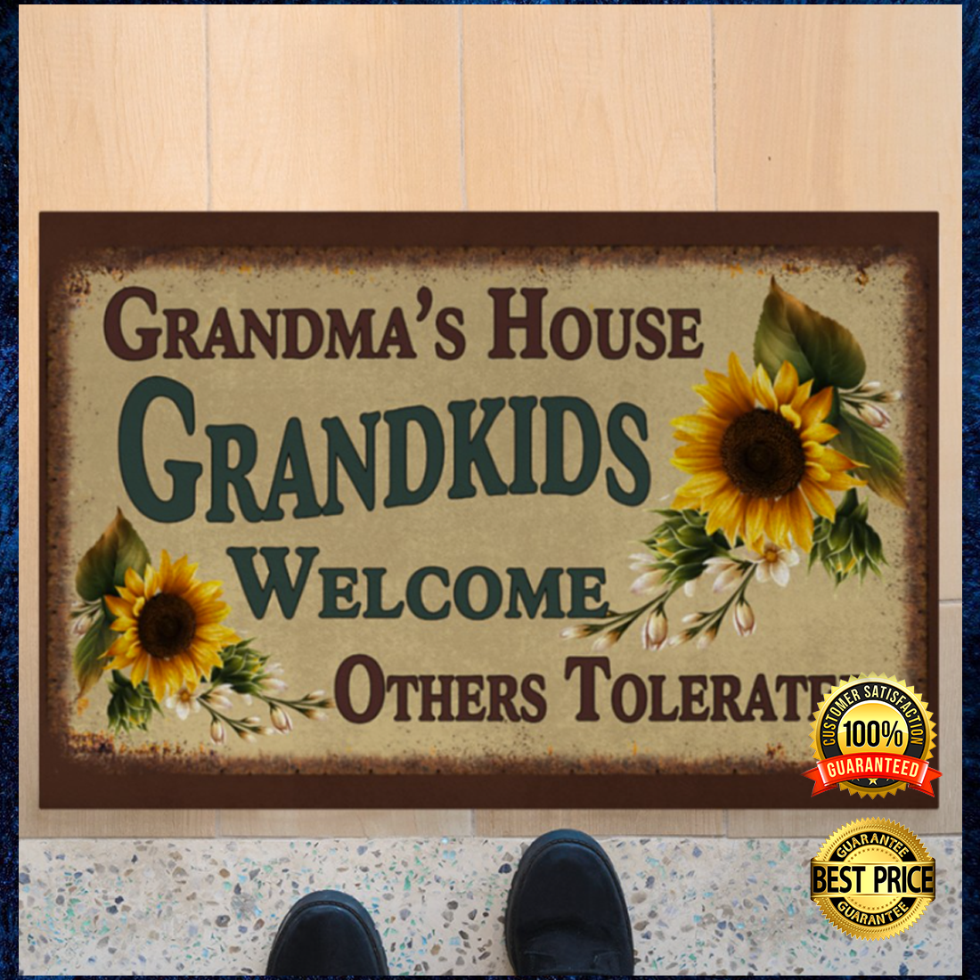 Grandma's house grandkids welcome others tolerated doormat 4