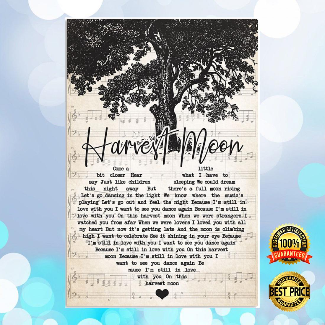 Harvest moon heart song lyric poster 5
