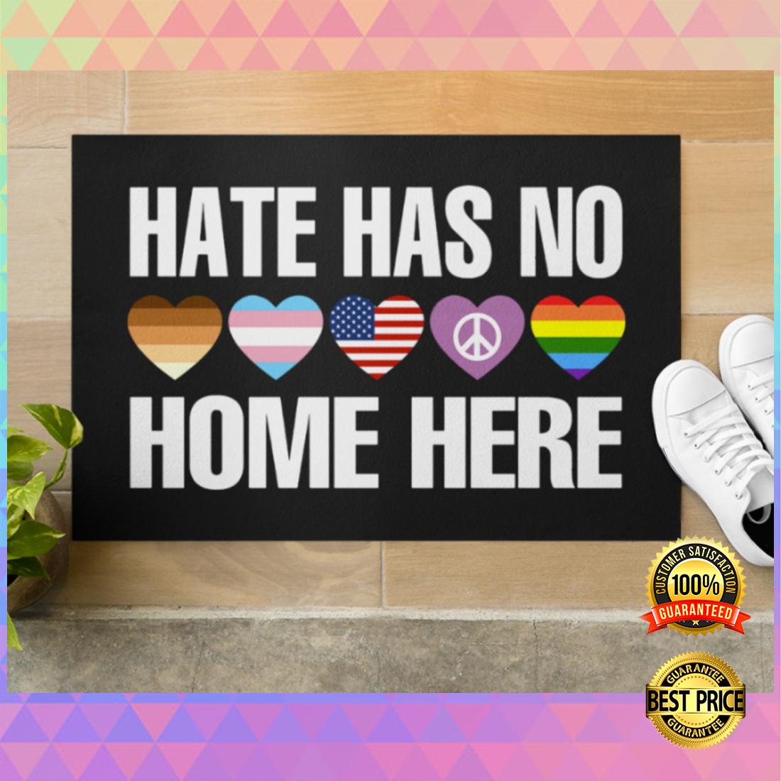 Hate has no home here doormat 5