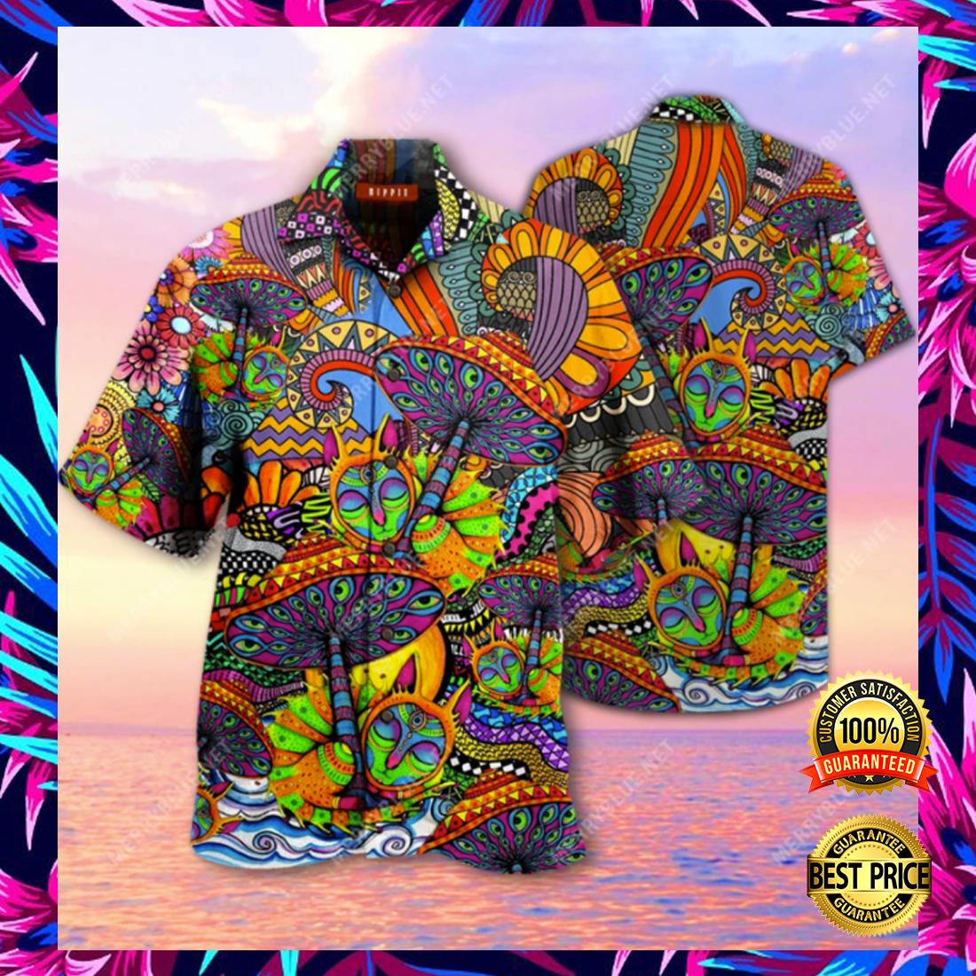 Hippie Mushroom hawaiian shirt 4