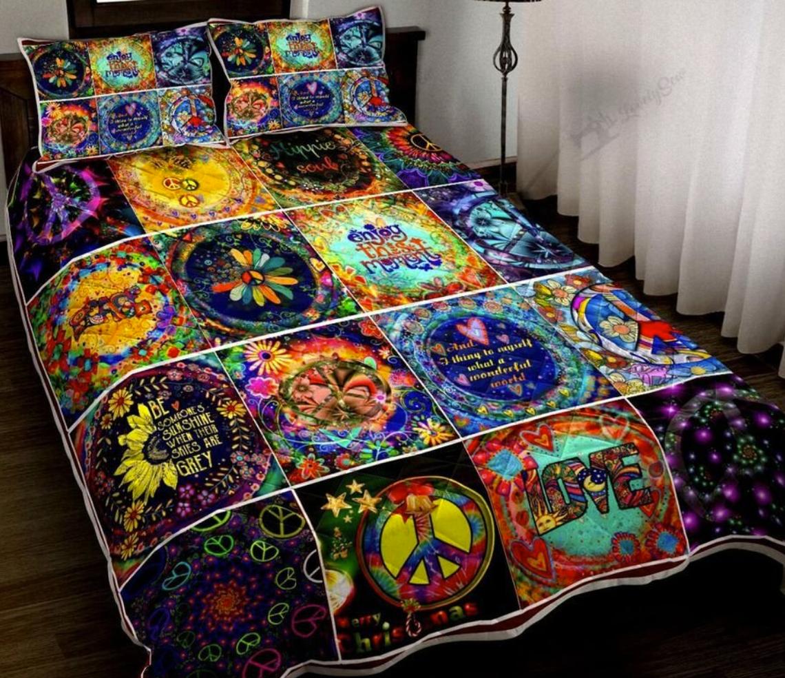 Hippie things bedding set