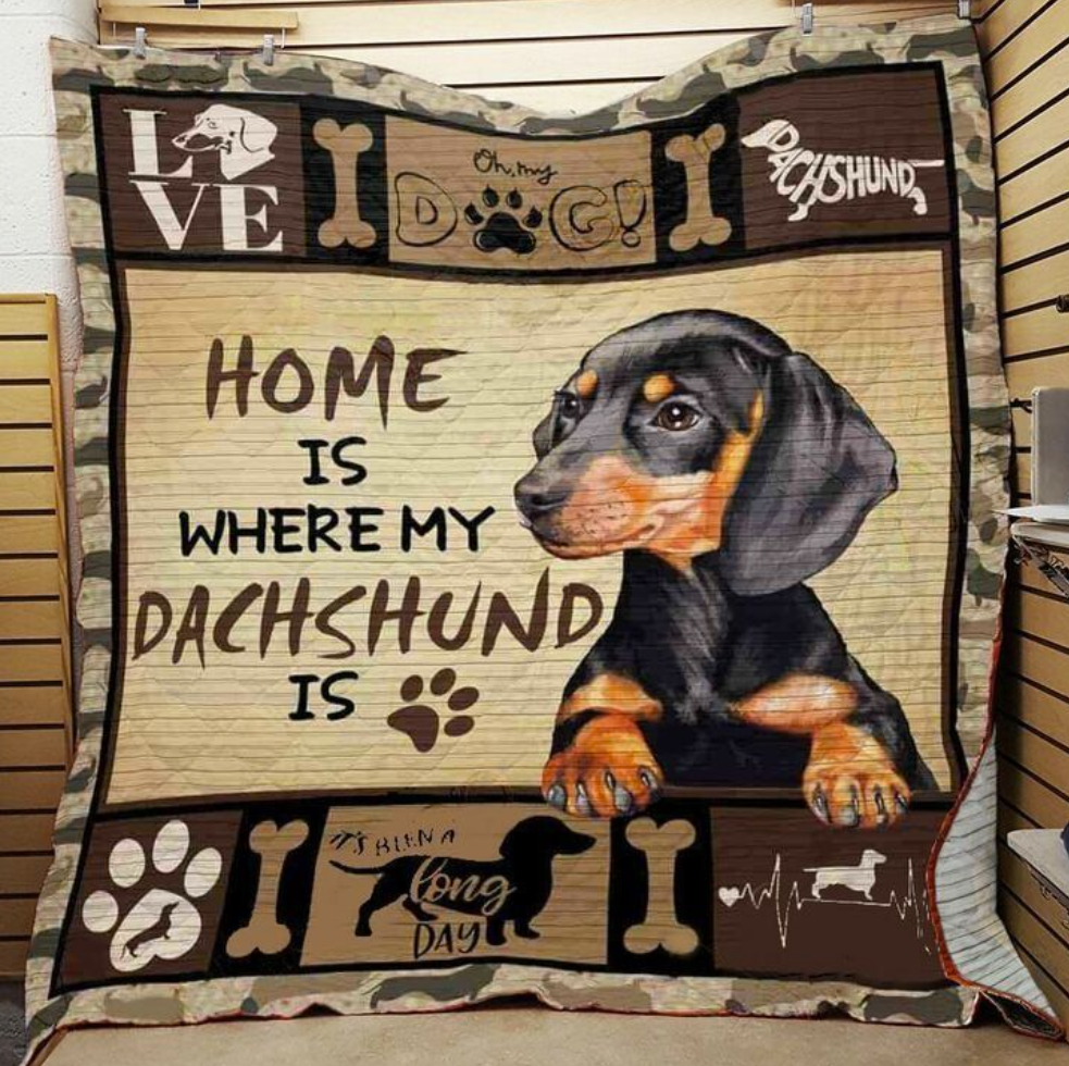 Home is where my dachshund is quilt