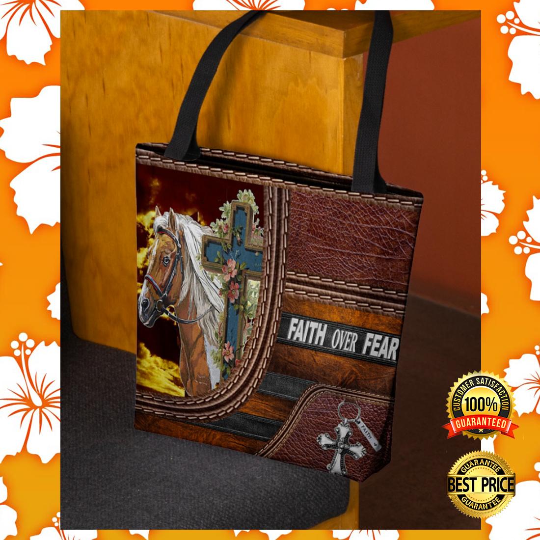 Horse faith over fear tote bag 3