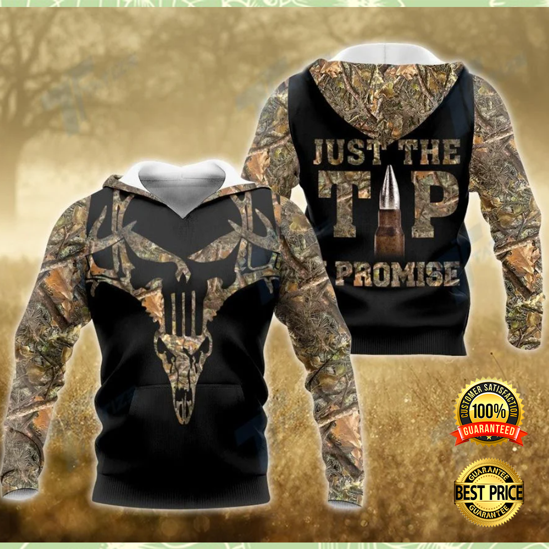 Hunting just the tip i promise all over printed 3D hoodie 4
