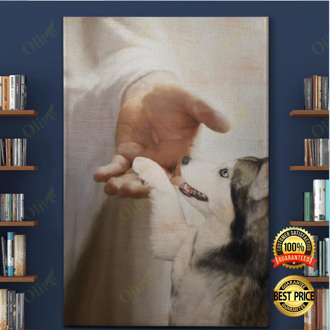 Husky take my hand canvas 5
