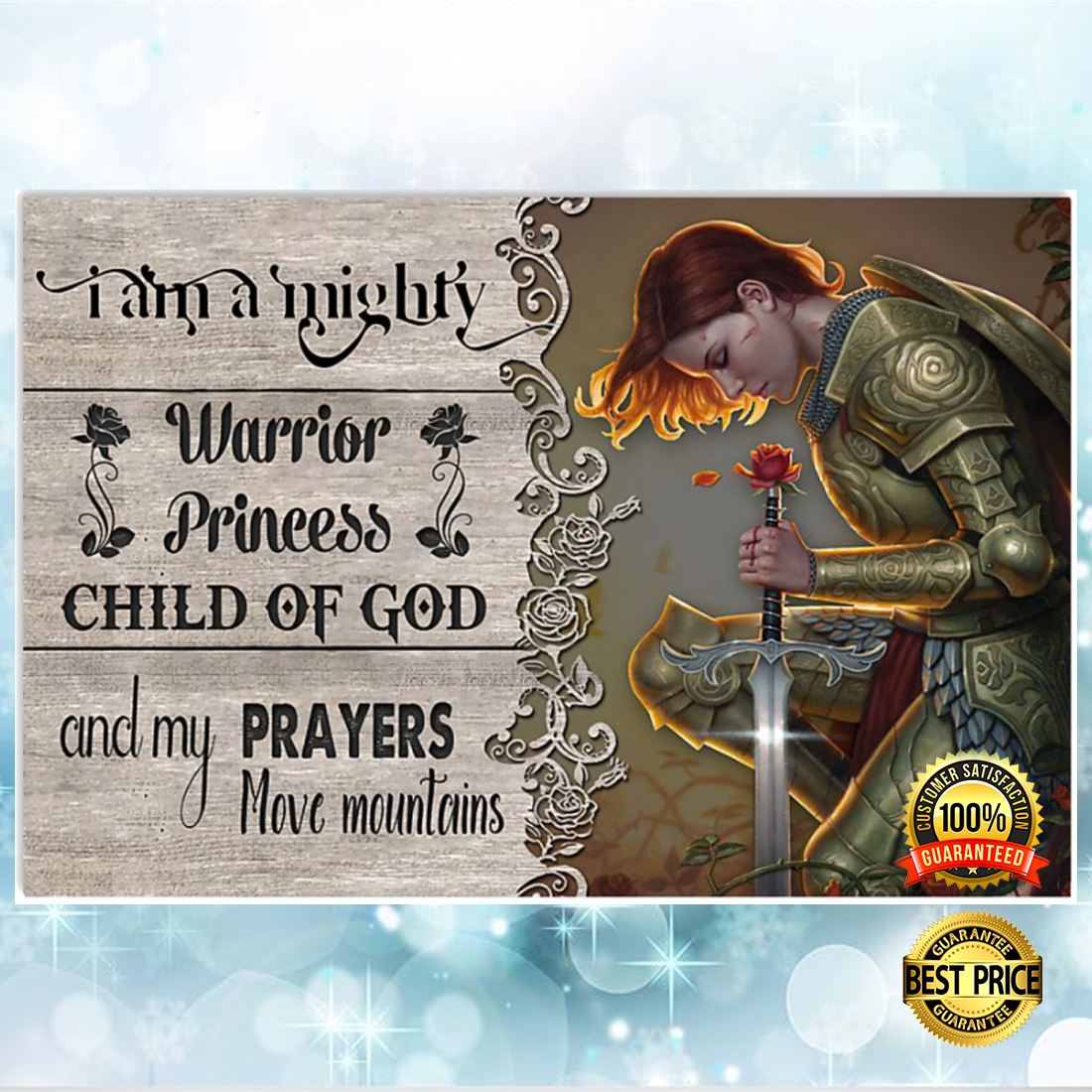 I am a mighty warrior princess child of god poster 5